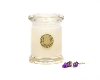 Lavender fragranced soy wax candle - this is the medium sized variant
