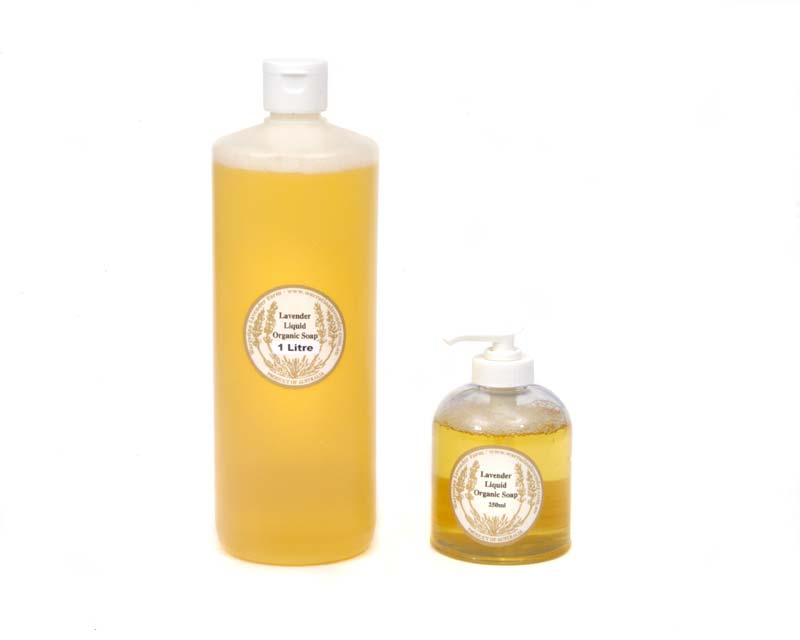 Organic liquid soap - 250ml and 1litre bottles