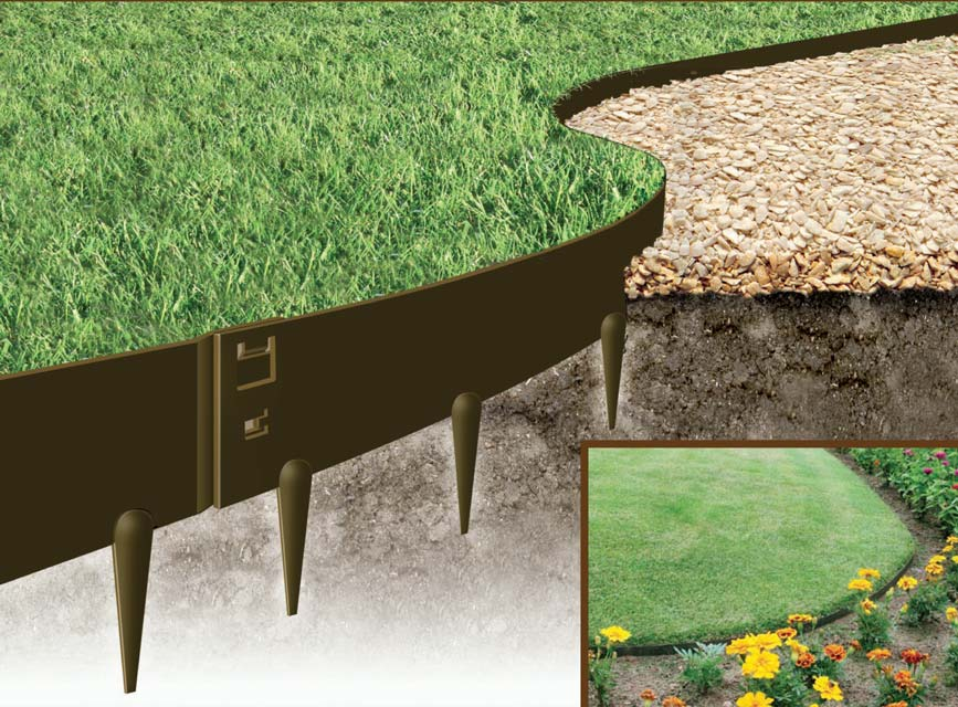 Gardensonline flexible steel garden edging galvanised and powder everedge flexible steel garden edging sisterspd