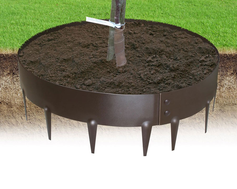 Everedge can be made into a circle though you'll need to drill and bolt it for ultimate strength.