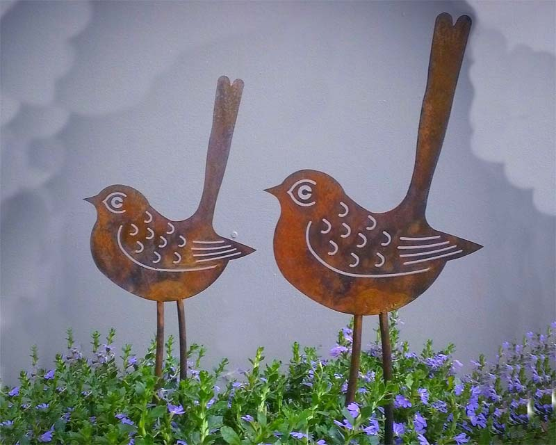 Quirky Birds - Garden Art