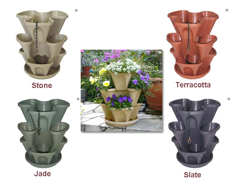Mini Stack-A-Pots come in four colours
