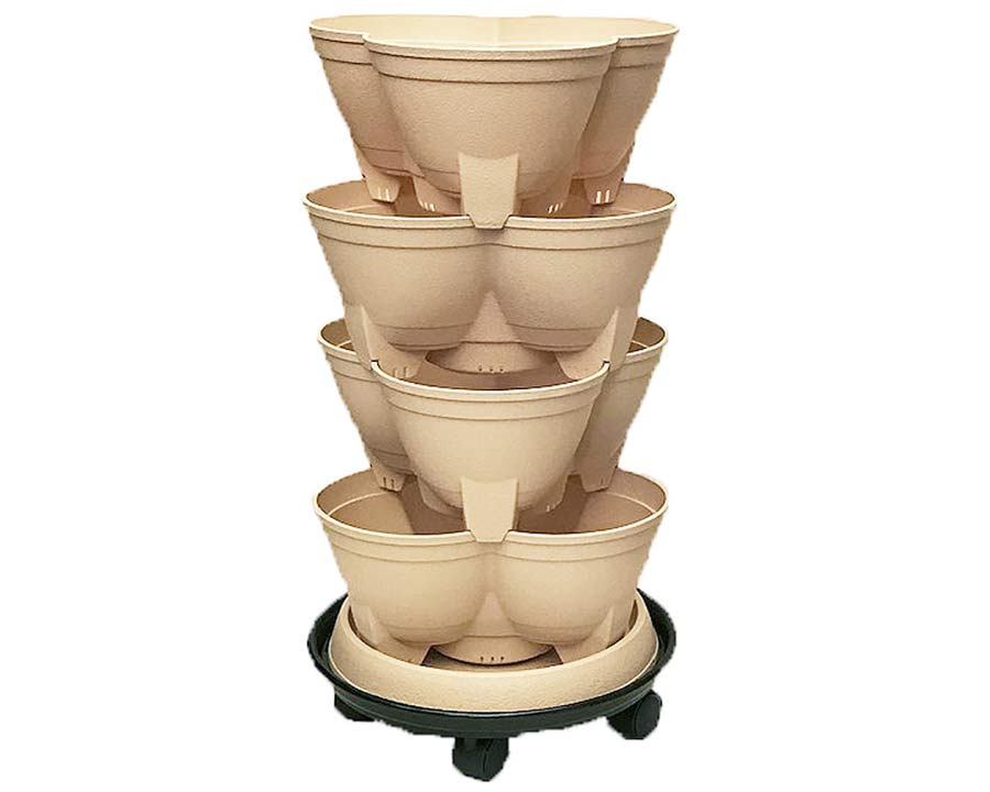 Stack-A-Pot Midi in Sand - the perfect size for growing herbs