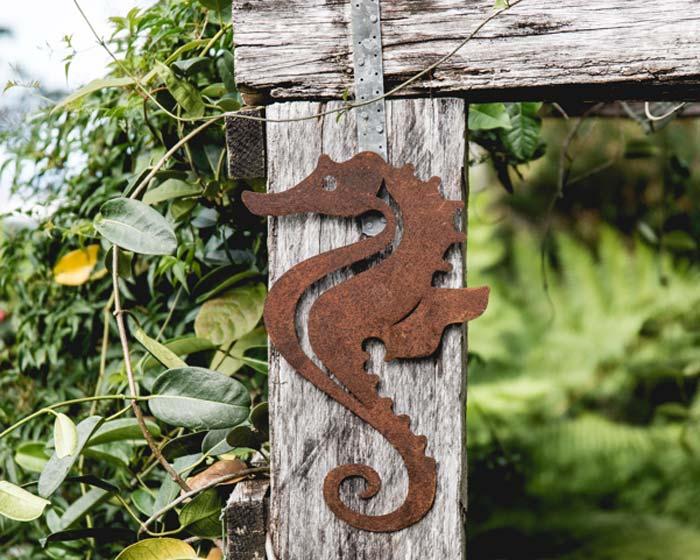 Seahorse - decorative wall art for the garden