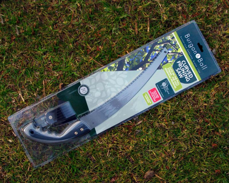 Curved pruning saw by Burgon and Ball of the UK
