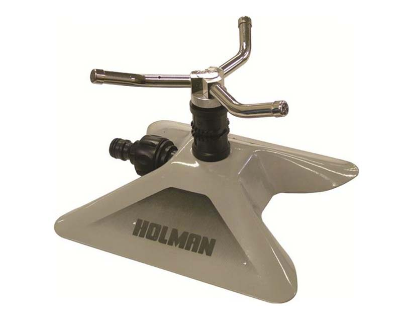 Holman three arm sled based sprinkler, ideal for larger lawns and borders.