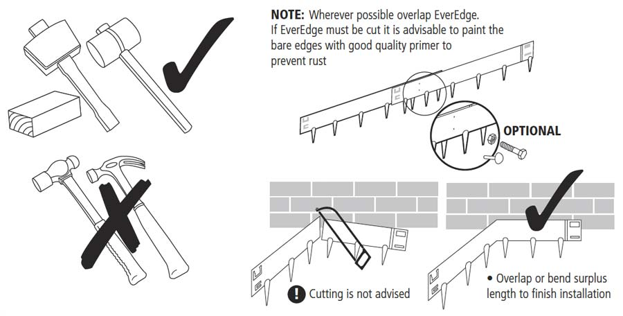 Everedge installation tools