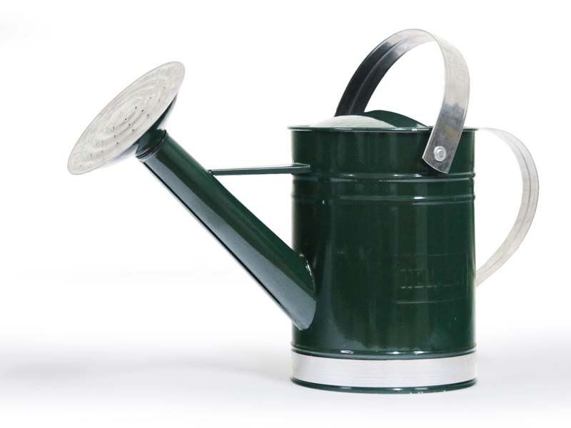 Holman 1.8l watering can - Green. Also available in Beige and Galvanised