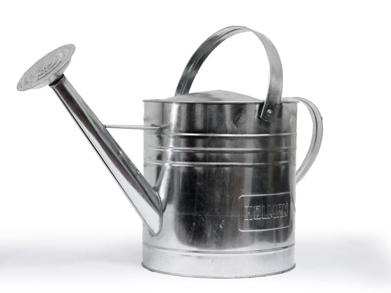 Galvanised 9litre Watering Can - natural colour