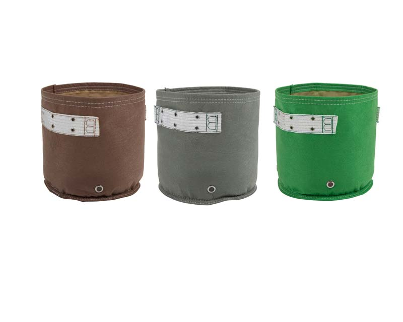 Brown , Charcoal and Green - 20 Litre - Eco Planter - Bloombagz