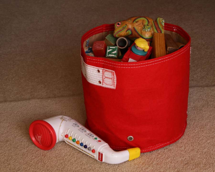 Red - 20 Litre - Eco Planter Doubling as Indoor Storage  - Bloombagz