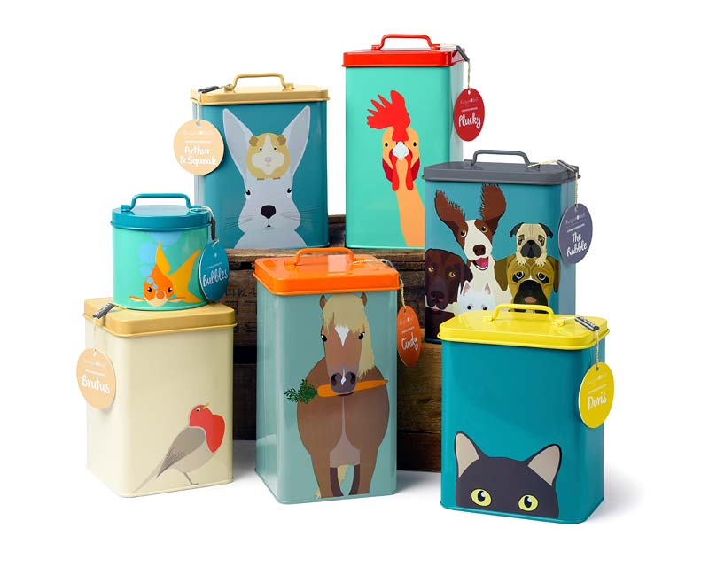 Creatureware Range of Stuff Tins, by Burgon and Ball of the UK