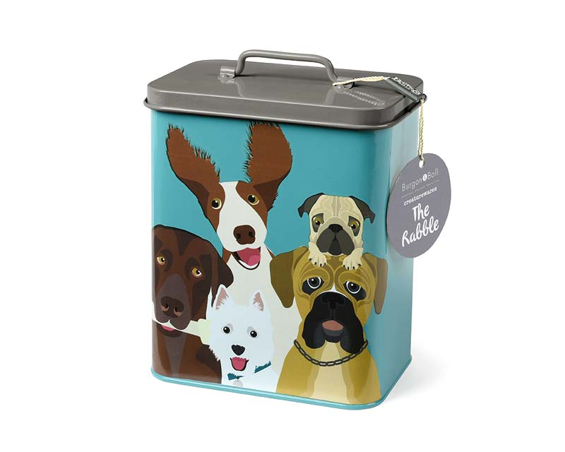 Enamel Dog Tin, part of the Creatureware Range from Burgon and Ball