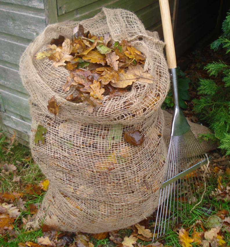 Leaf composting sacks by Burgon and Ball