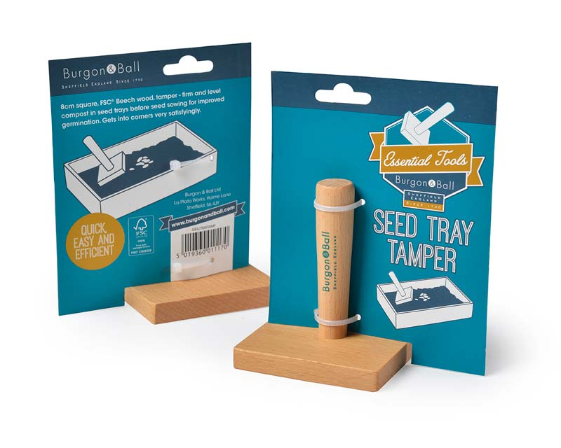 Seed tray tamper by Burgon and Ball
