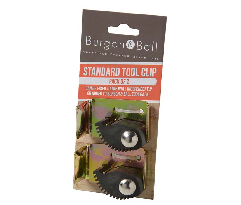 Additional standard clips for the Burgon and Ball Universal Tool Rack