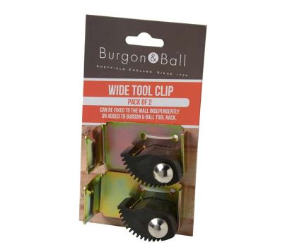 Additional wide Clips for the Burgon and Ball Universal Tool Rack