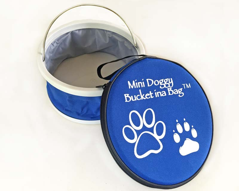 Mini Doggy Bucket ina Bag  - available in Blue Black and Pink