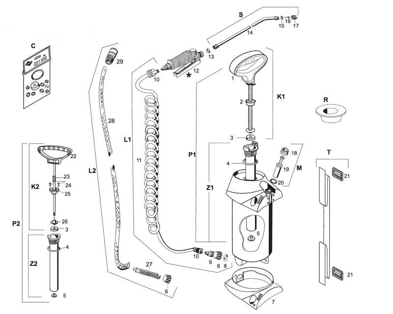 Spare parts for Mesto sprayers - PROFI and PROFI H2O