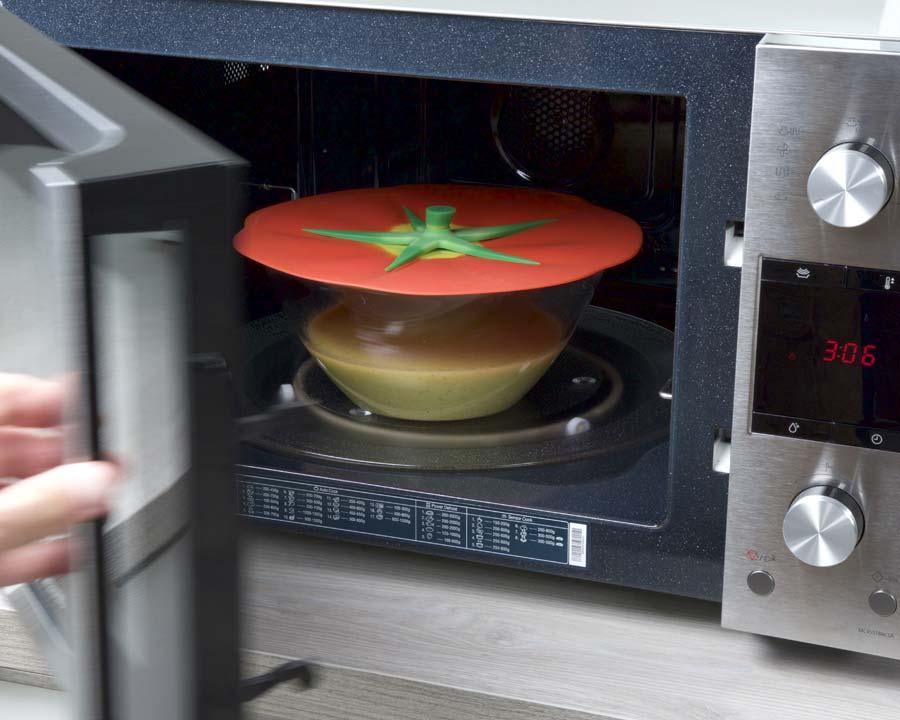 Charles Viancin - Tomato Lids.  Microwave safe
