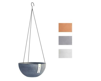 Hanging Brussels part of Ecopot range - available in Blue Grey, Terracotta and White Grey