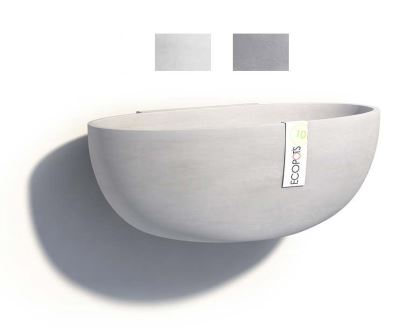 Wall mounted Sofia pots, part of the Ecopot range - available in White Grey and Blue Grey