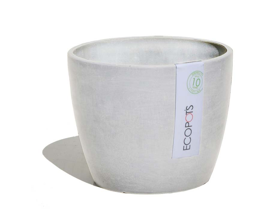 Stockholm pots in White Grey - ECOPOTS