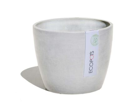 Stockholm pots in White Grey - ECOPOTS. also available in Blue Grey