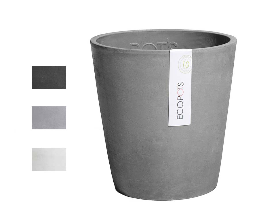 Morinda orchid pot part of the Ecopot range - available in Grey, Blue Grey and White Grey