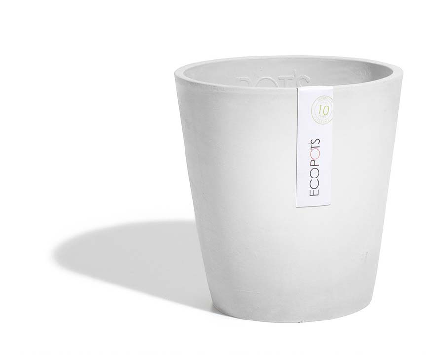 Morinda - ECOPOTS Orchid Pot in White Grey