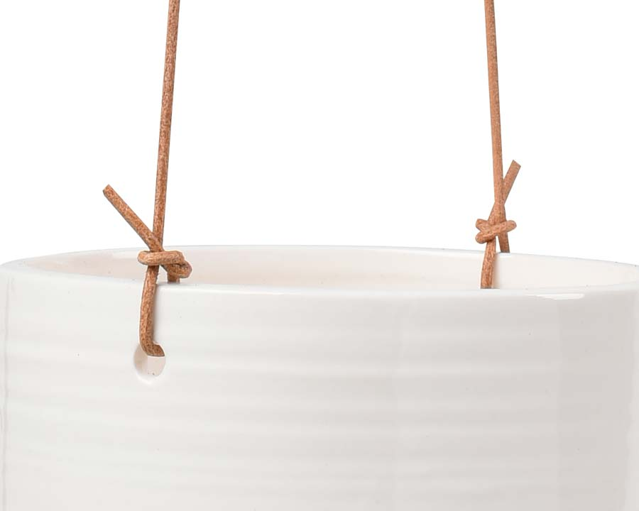 Burgon and Ball Hanging Pots comes with durable leather hanging cord