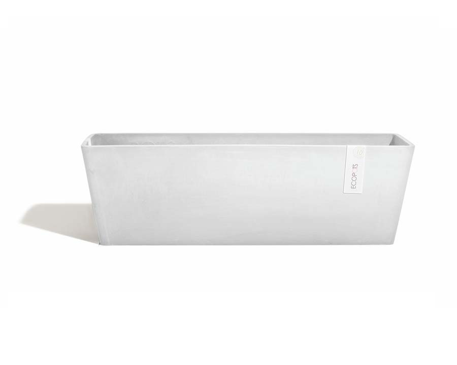 Bruges rectangular pots White Grey - ECOPOTS