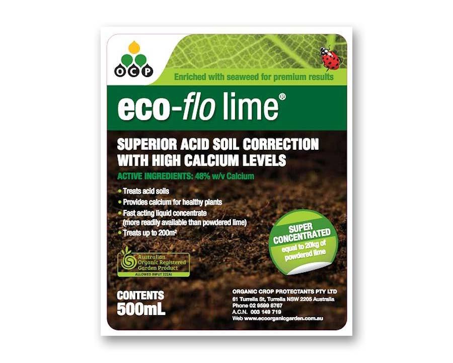 Eco-flo Lime lable