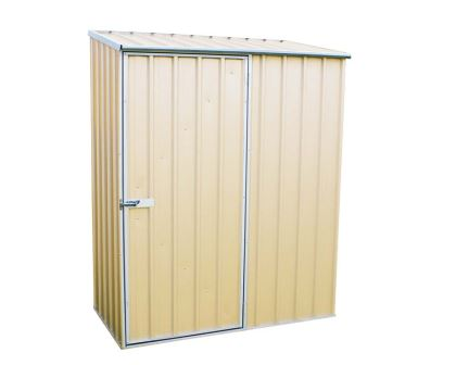ABSCO Single Door Shed 152cm wide x 78cm deep and 195cm tall in Merino (Cream)