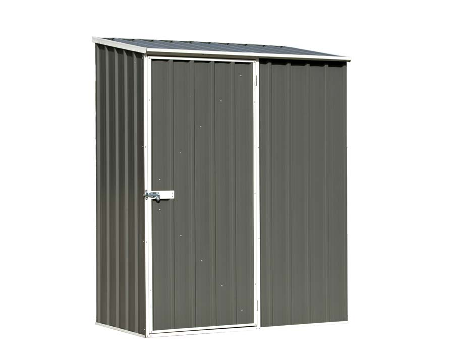 ABSCO Single Door Shed 152cm wide x 78cm deep and 195cm tall  in Grey