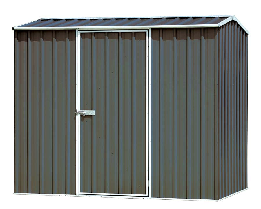 Economy Premier Single Door Shed 226W x 152D x 195H cm in Grey - ABSCO