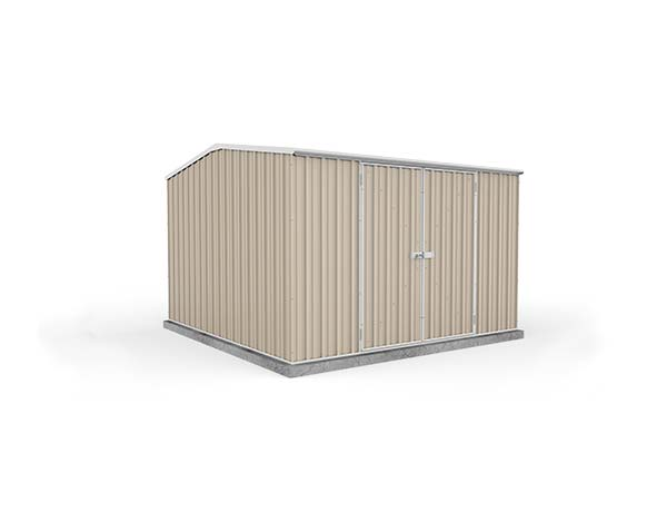 Eco-Nomy Shed with Double Doors Kit - 3mx 3m x 2.06m - Now only available in Zinc, Cream and Grey
