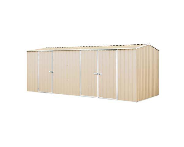 Eco-Nomy 3 Door Workshop Shed Kit - 5.22 x 2.26 x2.06 colour Paperbark