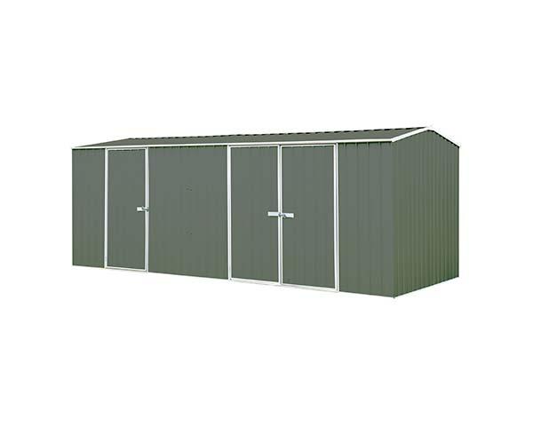 Eco-Nomy 3 Door Workshop Shed Kit - 5.22 x 2.26 x 2.06 colour Woodland Grey