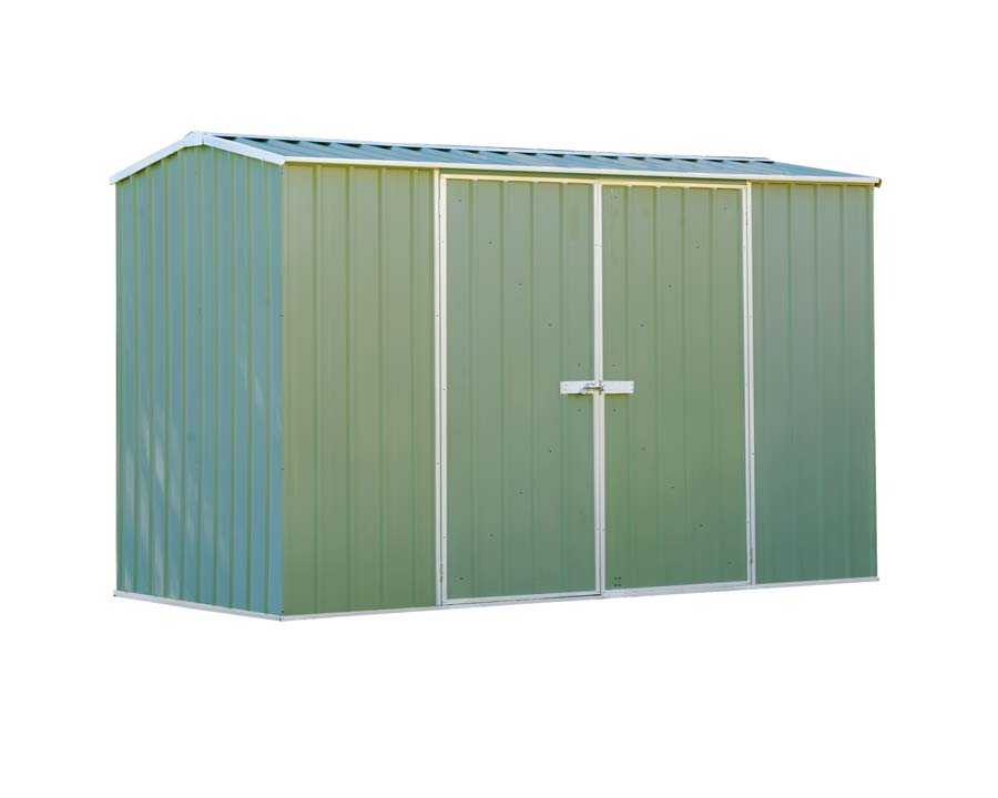 Premier Garden Shed with Double Doors Kit 3m x 1.52m x 1.95m in Pale Eucalypt