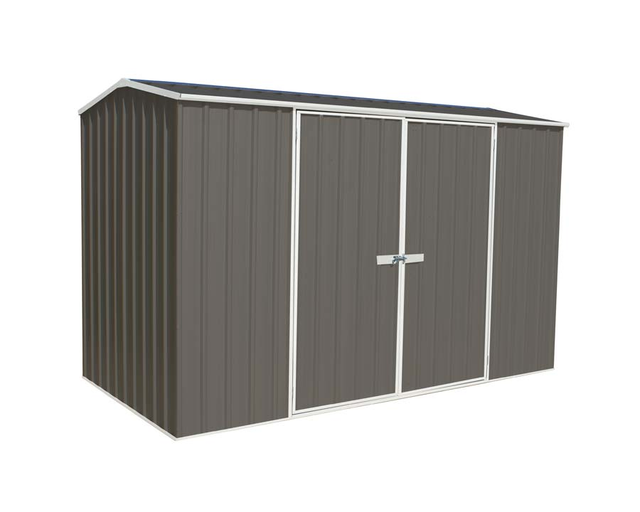 Premier Garden Shed with Double Doors Kit 3m x 1.52m x 1.95m in Woodland Grey