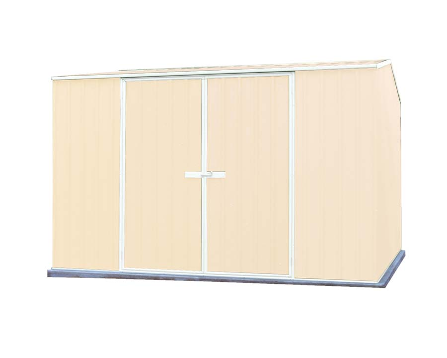 Premier Garden Shed Kit 3m x 2.26m x 2m in Classic Cream