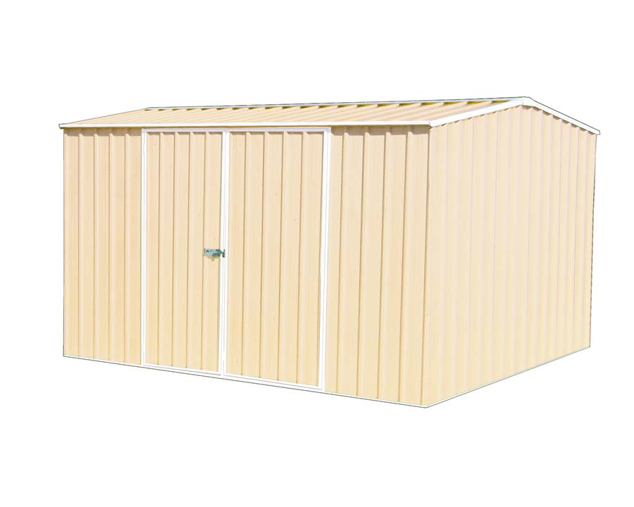 Premier Garden Shed Kit 3m x 3m x 2.06 in Classic Cream