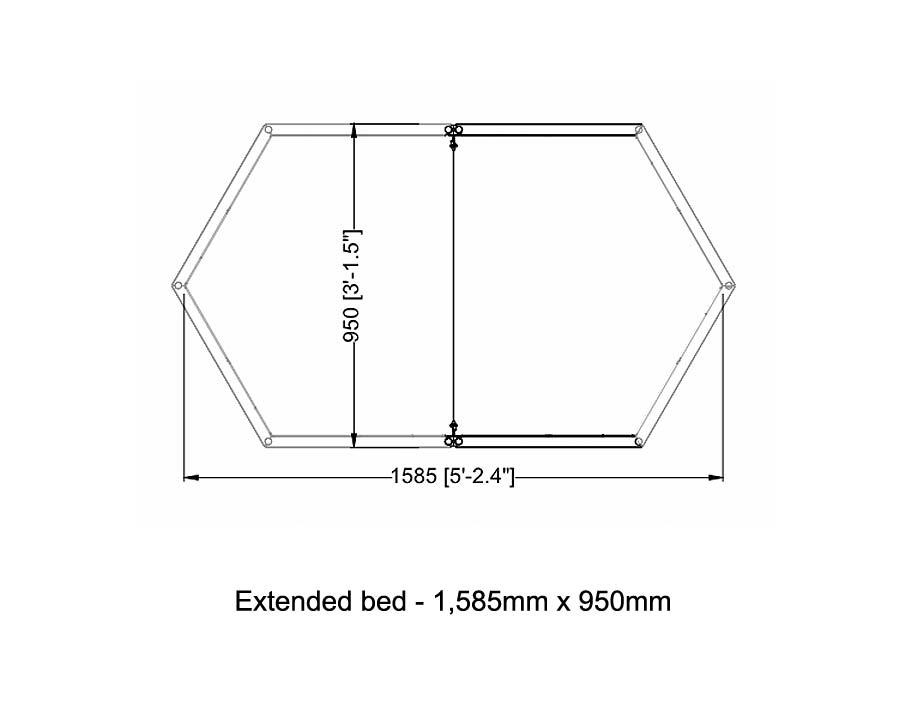 Dimensions of Ergo Raised Garden Bed