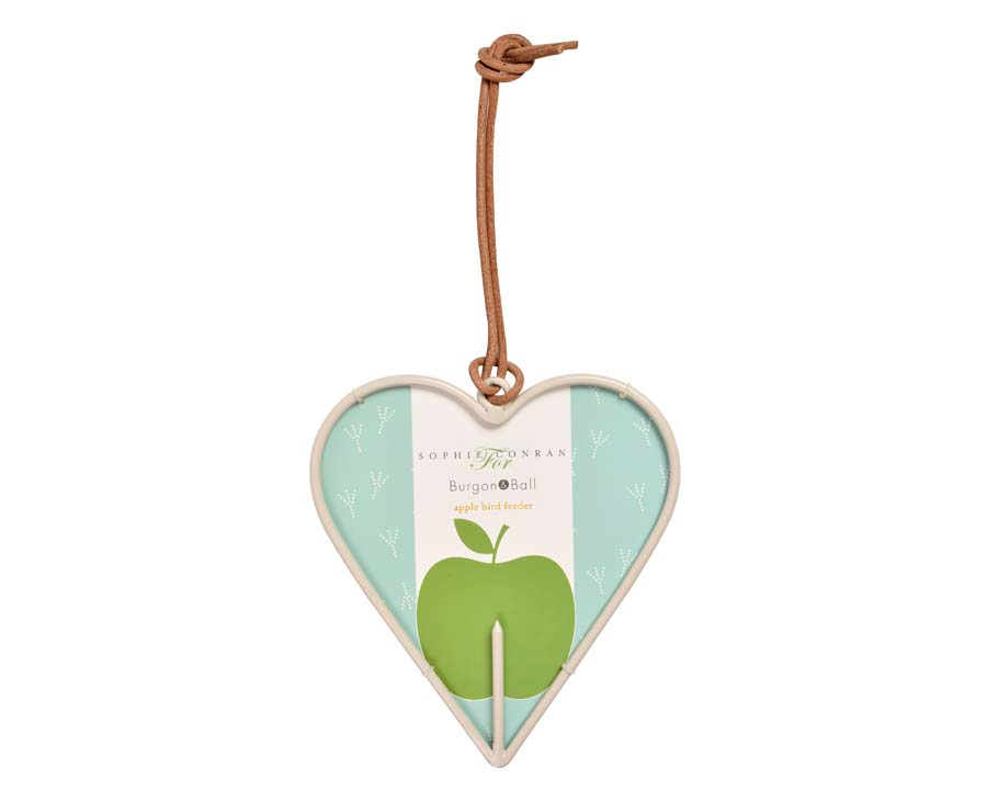 Heart shaped Apple Bird Feeder by Sophie Conran