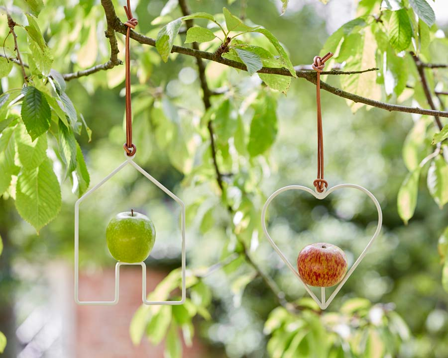 Apple Bird Feeder by Sophie Conran available in two shapes - house and heart