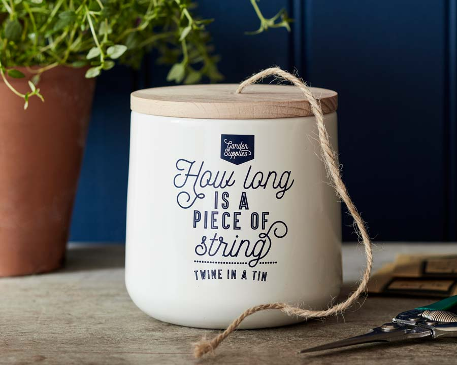 Twine Dispenser by Burgon and Ball - Stone