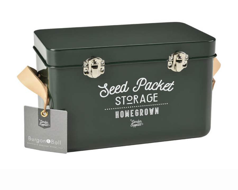 Seed Packet Storage Tin in Frog Green