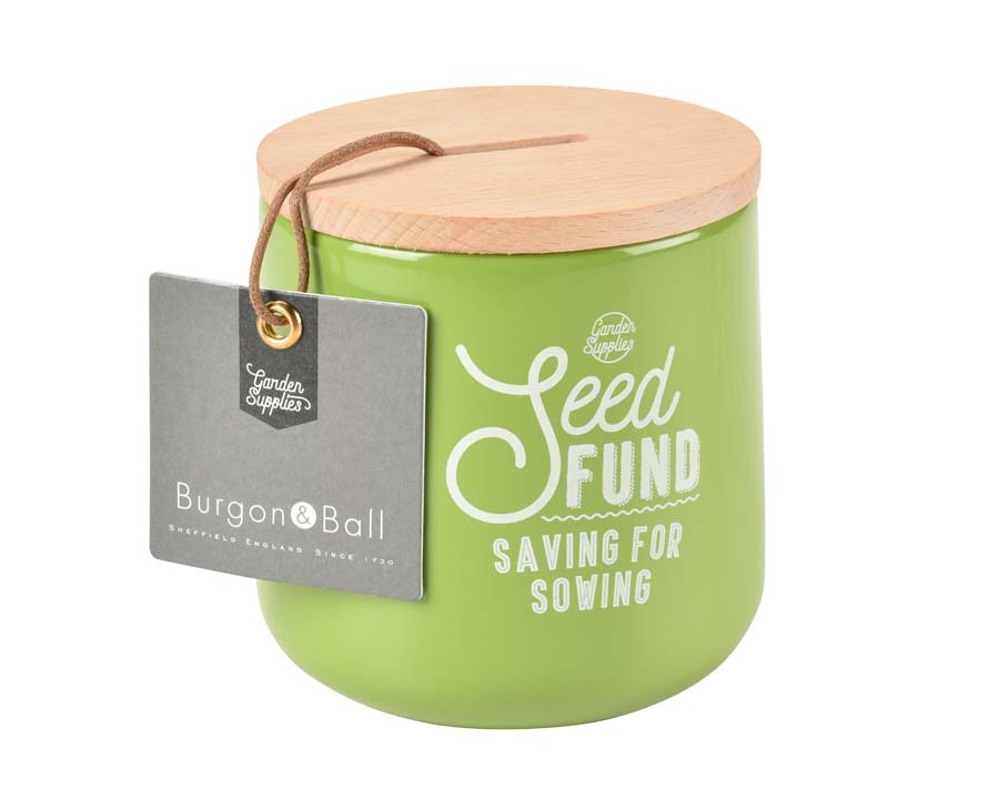 Seed Fund Money Box in Gooseberry - Burgon and Ball