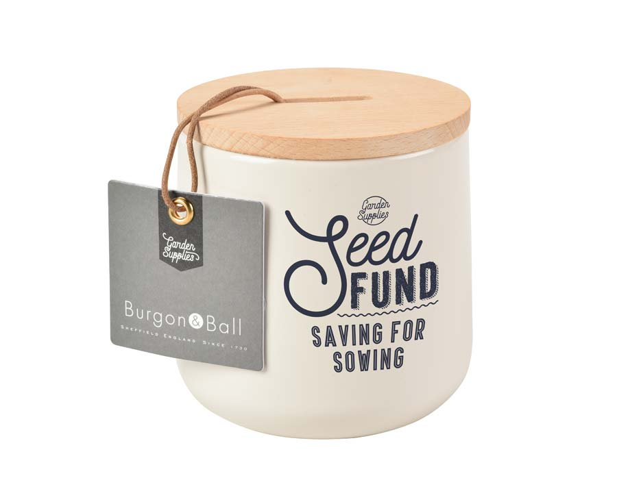 Seed Fund Money Box in Stone - Burgon and Ball